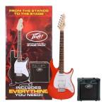 Peavey Raptor Plus Stage Back Guitar Starter Pack in Red
