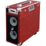 "Phil Jones Briefcase 100-Watt 2x5"" Drivers w/ AC/DC Power Red"