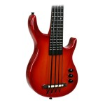 Kala SUB Series Solid Body UBass Fretted in Satin Red