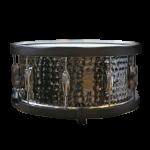 """Gretsch S16514WHBSH 6.5x14"""" Hammered Black Steel Snare Drum"""