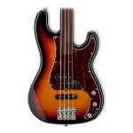 ESP LTD Vintage 214 4 String Rosewood Fretless 3 Tone Burst Bass