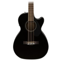 Fender CB60SCE 4 String Acoustic Electric Bass Guitar in Black