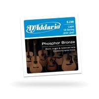 D'Addario EJ38 12-String Phosphor Bronze Light Acoustic Guitar St