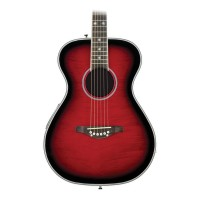 Daisy Rock Pixie Spruce Top Acoustic-Electric Guitar Raspberry Burst