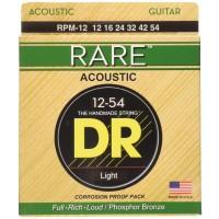 Dr Strings 3-RPM-12 Rare Phosphor Bronze Acoustic Guitar Strings 12-54 Light