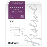 Rico Reserve Classic Bb Clarinet Reeds 3.5 Strength, 10 Count