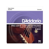 D'addario Ej65C Set UKULELE CONCERT Custom Extruded Clear Nylon