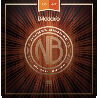 D'addario NB1047 Nickel Bronze Extra Light Acoustic Guitar Strings - 10-47
