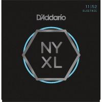 D'addario NYXL1152 Nickel Wound, Medium Top / Heavy Bottom, 11-52