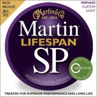 Martin MSP6050 Lifespan SP Acoustic Guitar Strings Custom Light 11-52