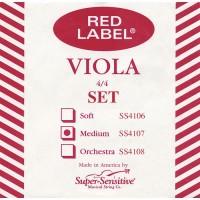 Super Sensitive SS4107 Red Label 4/4 Medium Viola String Set