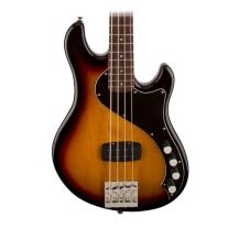 Fender Squier Deluxe Dimension Bass Guitar IV Rosewood 3-Tone, Sunburst