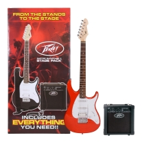 Peavey Raptor Plus Stage Back Guitar Starter Pack in Red