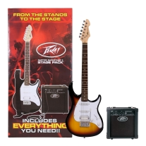 Peavey Raptor Plus Stage Back Guitar Starter Pack in Sunburst