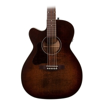 Art and Lutherie Left-Handed Legacy CW Concert Hall Guitar - Bourbon Burst