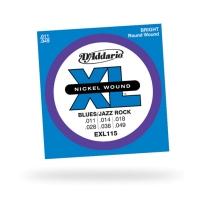 D'Addario EXL115 Nickel Blues/Jazz Electric Guitar Strings