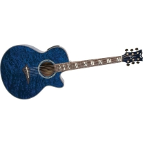 Dean Performer Quilt Ash Trans Blue Acoustic Guitar