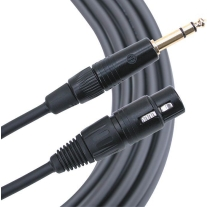 "Mogami Gold TRS 1/4"""" Male XLR Female Balanced Quad Patch Cable 3 Foot"