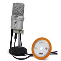 Samson GM1U G Track Condenser USB Microphone with Gain Control and Stereo Input Jacks