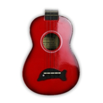 Kala Makala Mks Dolphin Bridge Soprano Ukulele Red Burst with Gig
