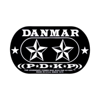 Danmar 210DKST Double Bass Drum Impact Click Pad with Star Pattern