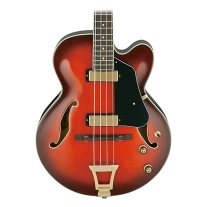 Ibanez AFB200 Artcore Hollowbody Bass Guitar in Sunset Red