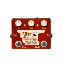 Analog Alien Alien Twister Fuzz Distortion Overdrive Pedal with Built In Buffer