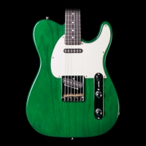 G&L ASAT Classic Clear Forest Green Electric Guitar - Rosewood w/ Case