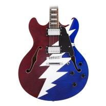 D'Angelico Premier Series DC Grateful Dead - Red, White, and Blue Lightning Bolt
