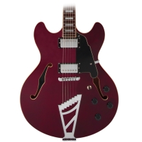 D'Angelico Premier Series DC Hollowbody Electric Guitar Transparent Wine
