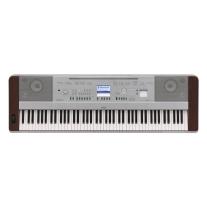 Yamaha DGX-640W Portable Grand Piano Keyboard with 88 Weighted Keys in Walnut