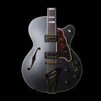D'Angelico EX-DH Deluxe Semi Hollow Electric Guitar in Midnight Matte