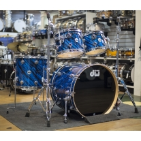 DW Collectors Series 4 Piece Shell Kit In Twisted Blue Oyster