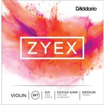 D'Addario Zyex Violin 4/4 Size Medium Tension Strings Set