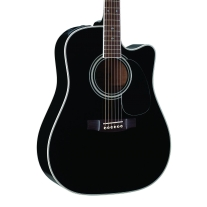 Takamine EG-341SC Dreadnought Acoustic-Electric Guitar in Black