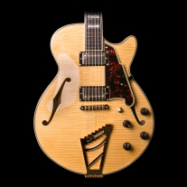 D'Angelico EX-SS Semi Hollow Natural Guitar w/ Case