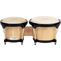 Gon Bops Fiesta Series Bongo, Natural with Black Hardware