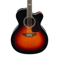 Takamine GJ72CE12BSB G Series 12-String Acoustic Electric Jumbo Brown Sunburst