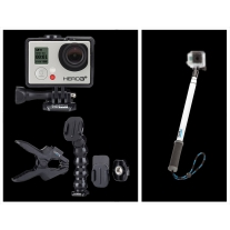 GoPro Hero 3 Plus Music Edition and GoPole Reach Telescopic Extension Pole