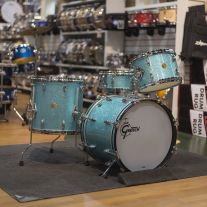 Gretsch GMT4PC023 USA Custom Vintage Built Series Bop Kit Turquoise Sparkle