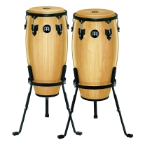 "Meinl Headliner Series 11"" & 12"" Conga Set W/Basket Stands, Natural"