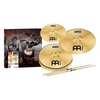 "Meinl HCS Cymbal Pack w/ 13"" Hi Hat, 14"" Crash 10"" Splash, Promark 5a Sticks"