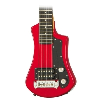 Hofner Shorty Electric Travel Guitar Red