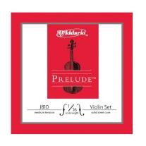 D Addario J810 Prelude Violin 1/16 Size Strings - Medium Tension