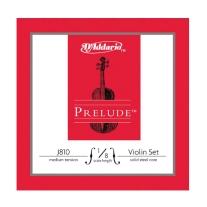 D Addario J810 Prelude Violin 1/8 Size Strings - Medium Tension