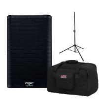 "QSC K8.2-NA 8"" Two Way 2000W Powered Loudspeaker Bundle"