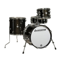 Ludwig Breakbeats 4pc Shell Kit in Black Sparkle with Gig Bags