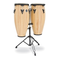"Latin Percussion LP City Wood Congas 10"" & 11"" Set - Natural Satin Finish"