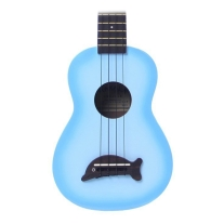 Kala Makala Mks Dolphin Bridge Soprano Ukulele Light Blue Burst