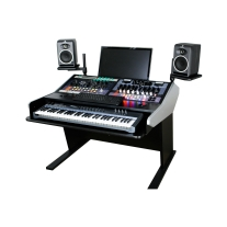 Sterling Modular Two Bay Multi-Station Console - Keyboard Composer Desk Surface